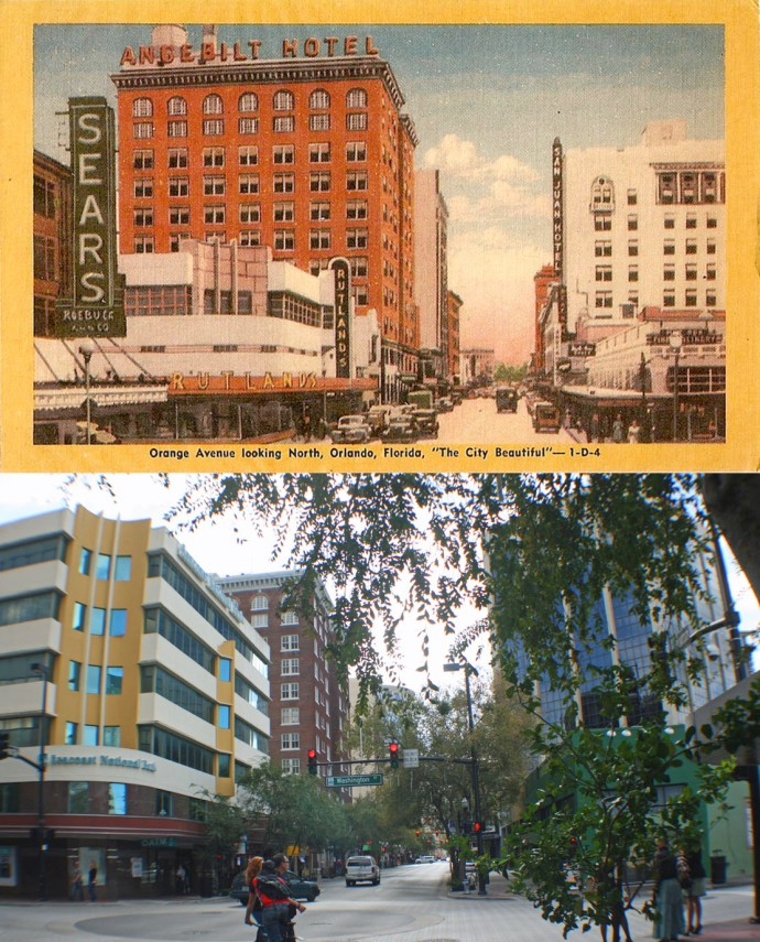 Orange Avenue and Washington 1940's/2013