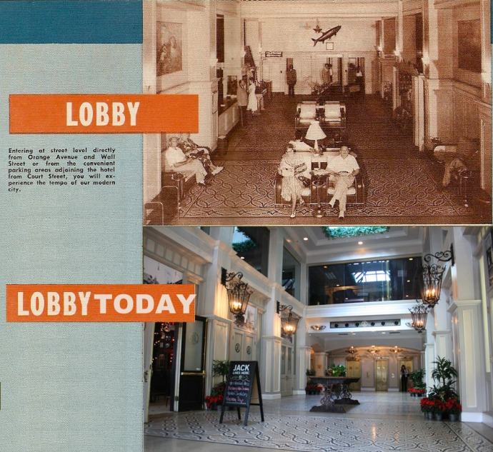 The Angebilt Lobby in the 1940's and Today