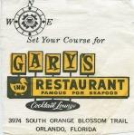 Gary's Napkin