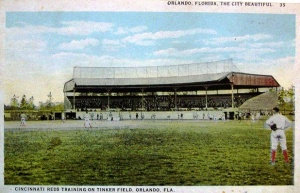 Cincinnati Reds training on Tinker Field in the 1920's