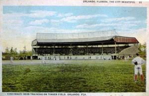 Cincinnati Reds training on Tinker Field in the 1920's