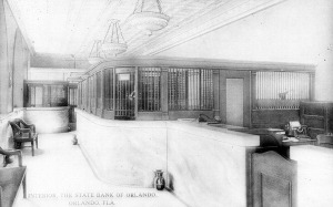 Interior of State Bank of Orlando & Trust, Co.