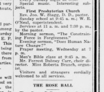 "From the 1914 Morning Sentinel ""Visitors and strangers"" were welcomed to all services."