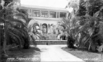 Tropical Court Yard with palms and citrus trees